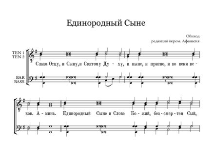 Edinorodnyi Syne obihod Full Score e