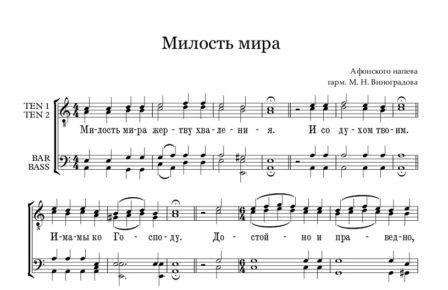 Milost mira Afonskoe Full Score e