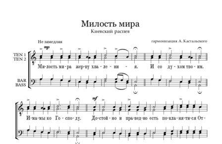 Milost mira Kastalskii Full Score e