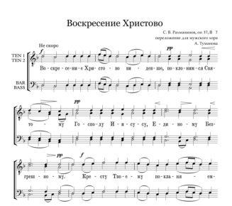 Voskresenie Hristovo Rahmaninov Full Score  e