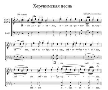 Heruvimskaja pesn malaja Simonovskaja  golosa Full Score  e