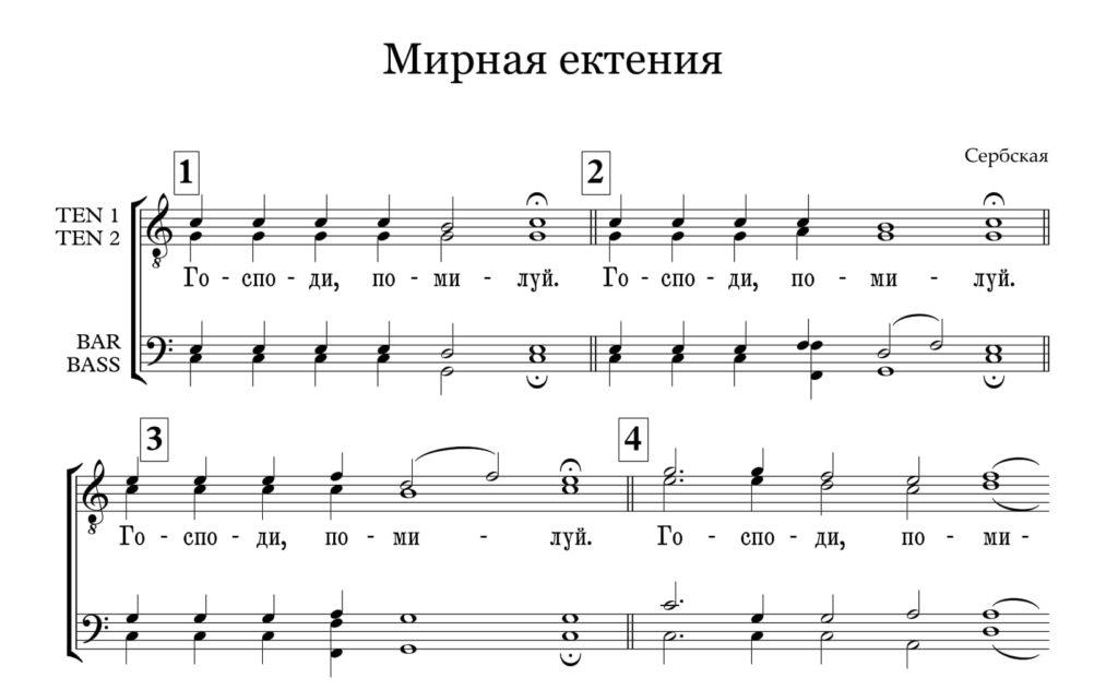 Мирная ектения (Сербская м.х.)