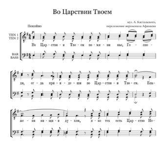 Vo Carstvii Tvoem Kastalskij Full Score  e
