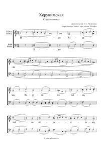 Heruvimskaja Sofronievskaja Chesnokov Full Score