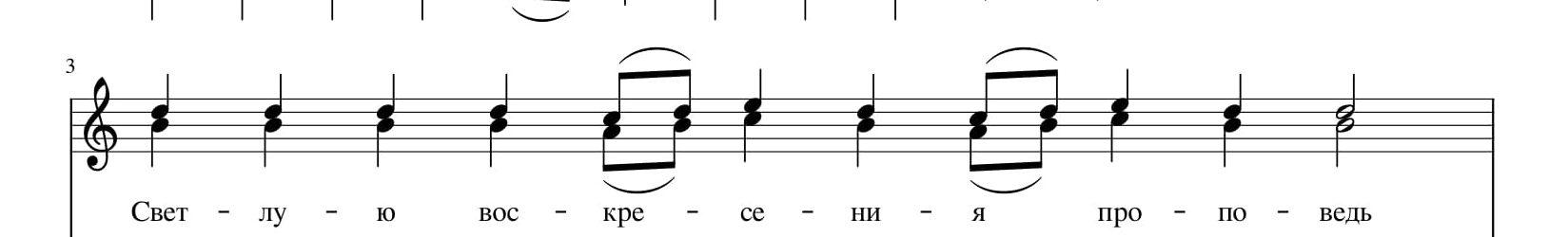 Тропарь воскресный 4 глас греч