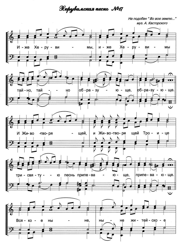 Херувимская песнь №17