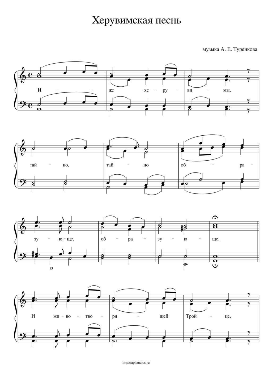 Херувимская песнь. Туренков